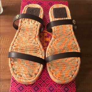 Tory Burch Coconut Two Band Sandals